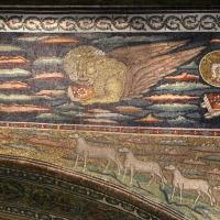 Sant'apollinare in classe, mosaici dell'arcone, cristo benedicente tra i simboli degli evangelisti (IX sec.) 05 marco - Sailko - Ravenna (RA)