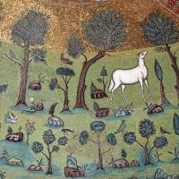 Sant'apollinare in classe, mosaici del catino, trasfigurazione simbolica, VI secolo, 07 agnello come apostolo - Sailko - Ravenna (RA)