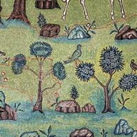 Sant'apollinare in classe, mosaici del catino, trasfigurazione simbolica, VI secolo, 10 giardino (con restauri) 2 - Sailko - Ravenna (RA)