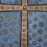 Sant'apollinare in classe, mosaici del catino, trasfigurazione simbolica, VI secolo, 05 croce gemmata - Sailko - Ravenna (RA)