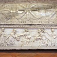 Sant'apollinare in classe, interno, sarcofagi ravennati del V secolo ca. 05 gesù tra gli apostoli 1 - Sailko - Ravenna (RA)