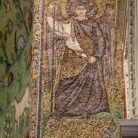 Sant'apollinare in classe, mosaici dell'arcone, arcangelo gabriele, VI secolo - Sailko - Ravenna (RA)