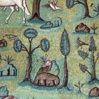 Sant'apollinare in classe, mosaici del catino, trasfigurazione simbolica, VI secolo, 13 giardino - Sailko - Ravenna (RA)