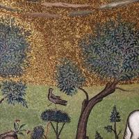 Sant'apollinare in classe, mosaici del catino, trasfigurazione simbolica, VI secolo, 08,1 alberi (con restauri) - Sailko - Ravenna (RA)