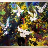 Renato guttuso, volo di colombe sull'aranceto, 1956-57 - Sailko - Ravenna (RA)