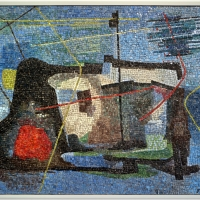 Romolo papa su dis. di giuseppe santomaso, il muro del pescatore, 1954 (1959) - Sailko - Ravenna (RA)