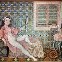 Pro.mo su dis. di balthus, le chambre turque, 1994-95 - Sailko - Ravenna (RA)