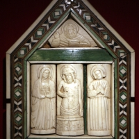 Italia del nord, pace con la pietà, legno, osso e corno, 1450-1500 ca - Sailko - Ravenna (RA)