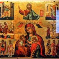 Pittore italo-cretese, cristo, madonna del latte (galactotrophousa) con s. caterina, episodi biblici e santi, xvi-xvii secolo - Sailko - Ravenna (RA)