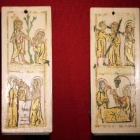 Scuola forse renana, due laminette dipinte, 1300-50 ca - Sailko - Ravenna (RA)
