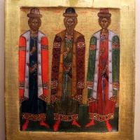 Scuola russa, forse novgorod, san vladimiro coi figli boris e gljeb, 1350-1410 ca - Sailko - Ravenna (RA)