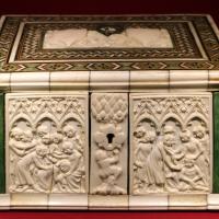 Parigi (lastre) e italia settentrionale, cofanetto alla certosina, 11340-50 ca - Sailko - Ravenna (RA)