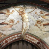 Pietro da rimini e bottega, affreschi dalla chiesa di s. chiara a ravenna, 1310-20 ca., crocifissione 03 - Sailko - Ravenna (RA)