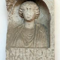 Stele funeraria del coronario atenio, 50 dc ca, da una necropoli di classe - Sailko - Ravenna (RA)