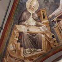 Pietro da rimini e bottega, affreschi dalla chiesa di s. chiara a ravenna, 1310-20 ca., volta con evangelisti e dottori, gregorio - Sailko - Ravenna (RA)