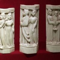 Bottega a tratteggi, placchette di cofanetto con storie di paride, italia del nord, 1425-1450 ca. 0 - Sailko - Ravenna (RA)