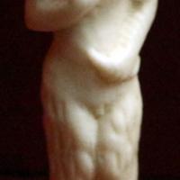 Germania, manico di posata in avorio con satiro, xvii secolo - Sailko - Ravenna (RA)