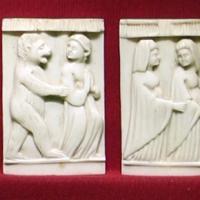 Italia del nord, placchette di cofanetto con storie di una santa, 1400-1450 ca - Sailko - Ravenna (RA)