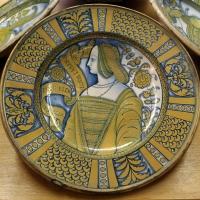 Deruta, piatto con bella donna, 1500-30 ca.2 - Sailko - Ravenna (RA)