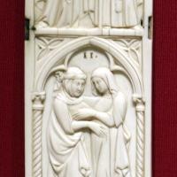 Francia, anta di tabernacolo a sportelli, 1325-50 ca - Sailko - Ravenna (RA)