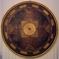 Turchia, mensa circolare da campo militare in legno e cuoio dorato, xvi secolo - Sailko - Ravenna (RA)