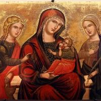 Scuola veneto-cretese, maodnna del latte tra le ss. caterina e lucia, xvi secolo - Sailko - Ravenna (RA)