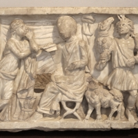 Sarcofago di fanciullo con istruzione filosofica, 290 dc ca - Sailko - Ravenna (RA)