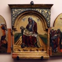 Scuola di andrea ritzos o andrea pavias, trittico con pietà e scene di passione e resurrezione, creta 1510 ca - Sailko - Ravenna (RA)
