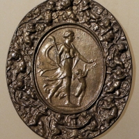 Giovanni bernardi da castelbolognese, figura femminile con amorino, 1520-50 ca - Sailko - Ravenna (RA)