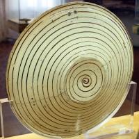 Manises, piatto in maiolica lustrata con agnus dei, 1450-1500 ca. 02 retro - Sailko - Ravenna (RA)