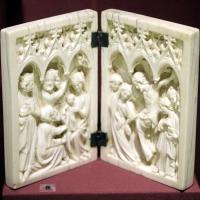 Parigi (forse), dittico con adorazione dei magi e crocifissione, 1340-60 ca - Sailko - Ravenna (RA)