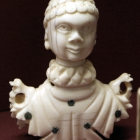 Italia o francia, testa di automa in avorio, xviii secolo ca - Sailko - Ravenna (RA)