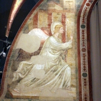 Pietro da rimini e bottega, affreschi dalla chiesa di s. chiara a ravenna, 1310-20 ca., annunciazione 01 - Sailko - Ravenna (RA)