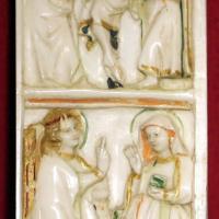Parigi, placchetta con crocifissione e annunciazione, 1300-30 ca - Sailko - Ravenna (RA)