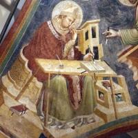Pietro da rimini e bottega, affreschi dalla chiesa di s. chiara a ravenna, 1310-20 ca., volta con evangelisti e dottori, ambrogio - Sailko - Ravenna (RA)