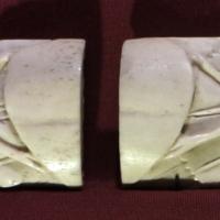 Maniera di baldassarre degli embriachi, due placche da coperchio di cassetta, osso, 1400-1425 ca - Sailko - Ravenna (RA)