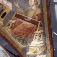 Pietro da rimini e bottega, affreschi dalla chiesa di s. chiara a ravenna, 1310-20 ca., volta con evangelisti e dottori, giovanni - Sailko - Ravenna (RA)