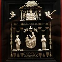 Italia, altarolo con eterno benedicente, madonna della ghiara e i ss. francesco e carlo borromeo, xvii secolo - Sailko - Ravenna (RA)