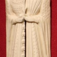 Fiandre o borgogna, lastrina con amanti che si scambiano doni, 1400-10 ca - Sailko - Ravenna (RA)