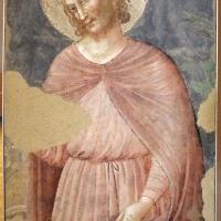 Pietro da rimini e bottega, affreschi dalla chiesa di s. chiara a ravenna, 1310-20 ca., santo, forse sigismondo - Sailko - Ravenna (RA)