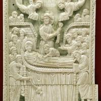 Costantinopoli, formella con dormitio virginis, avorio, 1110 ca - Sailko - Ravenna (RA)