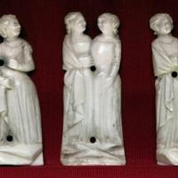 Bottega delle figure inchiodate, nove placchette da un cofanetto, italia centrale, osso, 1350-75 ca - Sailko - Ravenna (RA)