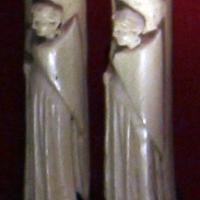 Bottega di baldassarre degli embriachi (attr.), placchette di cofanetto con figure femminili armate, 1410 ca - Sailko - Ravenna (RA)
