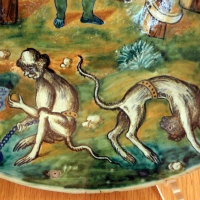 Forlì, catinetto, 1562, 02 scimmie - Sailko - Ravenna (RA)