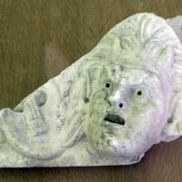 Maschera teatrale di fauno e lira, dalla zona del palazzo di teodorico, 90-110 dc ca - Sailko - Ravenna (RA)