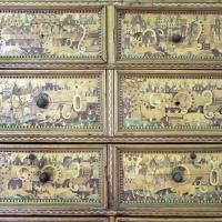 Augusta o tirolo, stipo da lavoro in legno di ciliegio con intarsi, 1550-1600 ca. 04 - Sailko - Ravenna (RA)