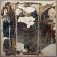 Anonimo, tre santi, XIII-XIV secolo, da s. vitale - Sailko - Ravenna (RA)