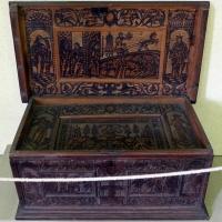 Alto adige o tirolo, cassetta istoriata con allegorie, xvi secolo - Sailko - Ravenna (RA)
