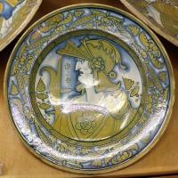 Deruta, piatto con busto di guerriero, 1500-30 ca. 02 - Sailko - Ravenna (RA)