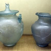 Materiali da necropoli di s. martino in gattara, tomba 10, olle in vetro - Sailko - Ravenna (RA)